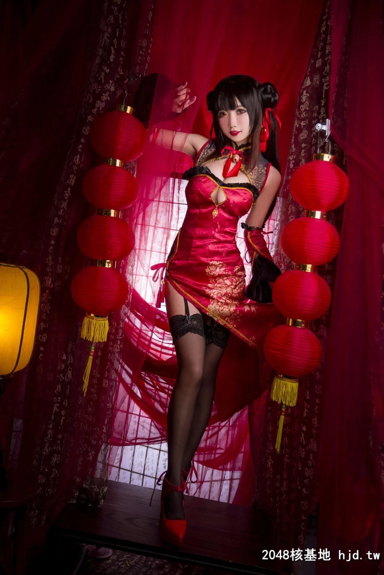 《约会大作战》时崎狂三中国旗袍Cosplay【CN:鬼畜瑶在不在w 】 (22P)插图(3)
