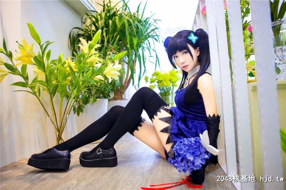 《散华礼弥》蓝色礼服黑袜少女诱惑Cosplay【CN:-Tomoyo酱-】 (14P)插图(3)