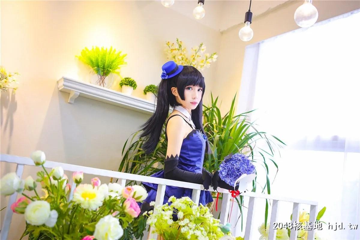 《散华礼弥》蓝色礼服黑袜少女诱惑Cosplay【CN:-Tomoyo酱-】 (14P)插图(8)