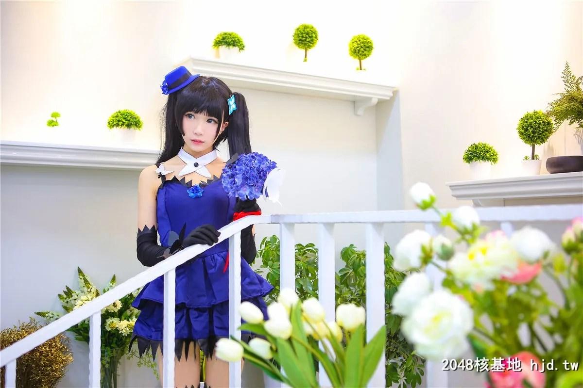 《散华礼弥》蓝色礼服黑袜少女诱惑Cosplay【CN:-Tomoyo酱-】 (14P)插图(5)