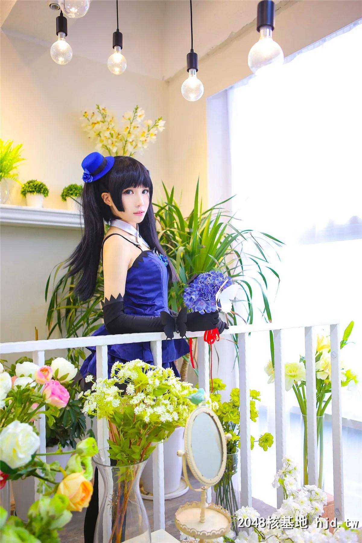 《散华礼弥》蓝色礼服黑袜少女诱惑Cosplay【CN:-Tomoyo酱-】 (14P)插图(7)