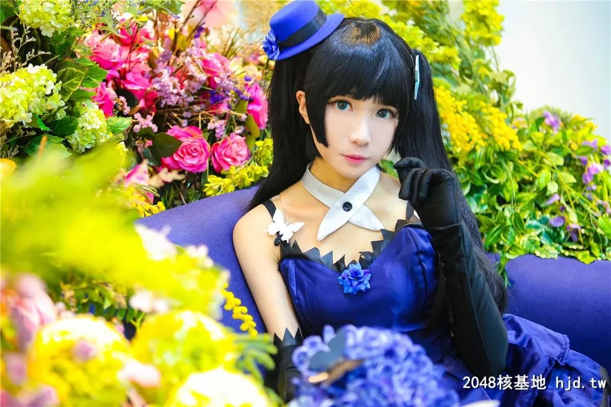 《散华礼弥》蓝色礼服黑袜少女诱惑Cosplay【CN:-Tomoyo酱-】 (14P)插图