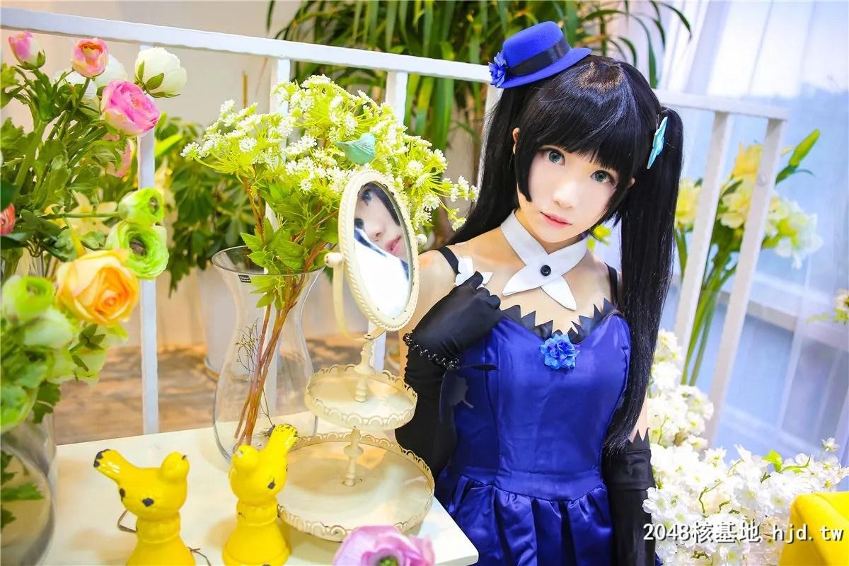 《散华礼弥》蓝色礼服黑袜少女诱惑Cosplay【CN:-Tomoyo酱-】 (14P)插图(2)