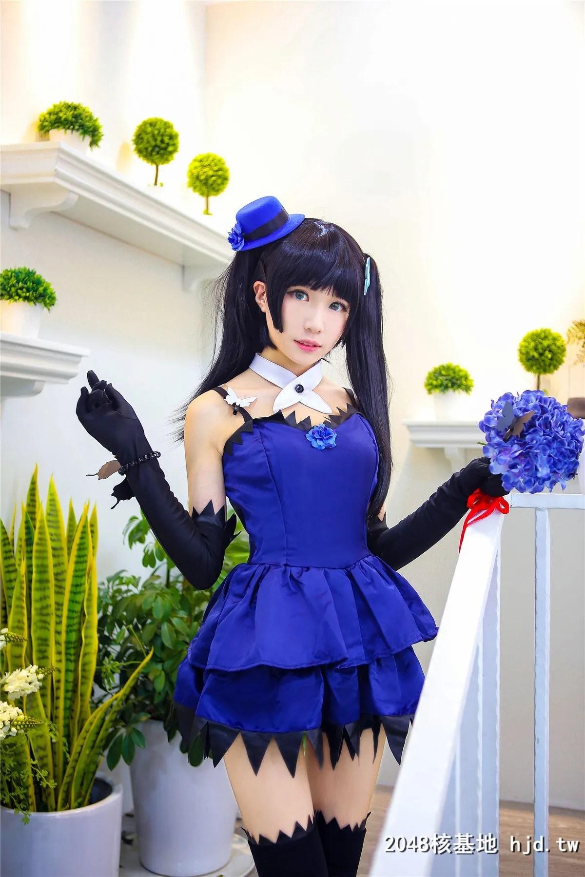 《散华礼弥》蓝色礼服黑袜少女诱惑Cosplay【CN:-Tomoyo酱-】 (14P)插图(6)