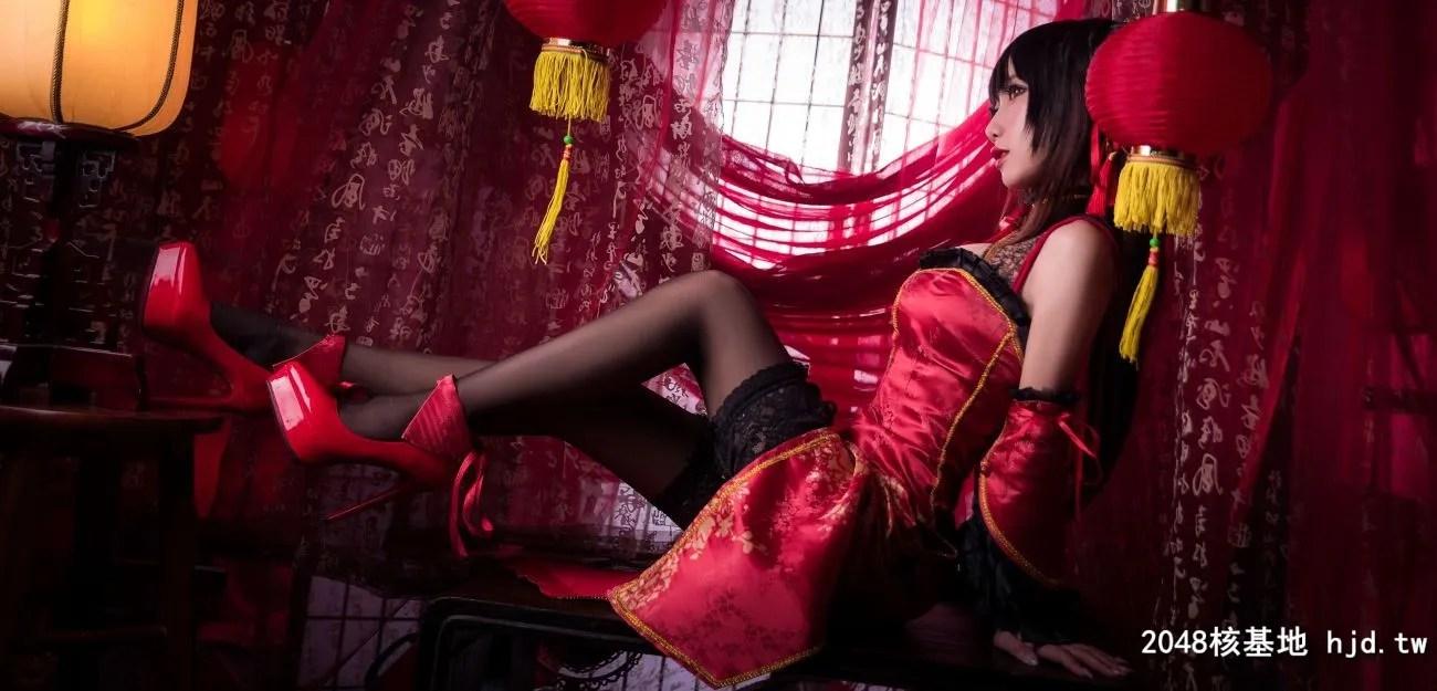 《约会大作战》时崎狂三中国旗袍Cosplay【CN:鬼畜瑶在不在w 】 (22P)插图