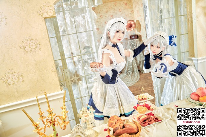碧蓝航线贝尔法斯特cos 绝美双人女仆 cn源纱希&犹大Yuta (14P)插图(1)