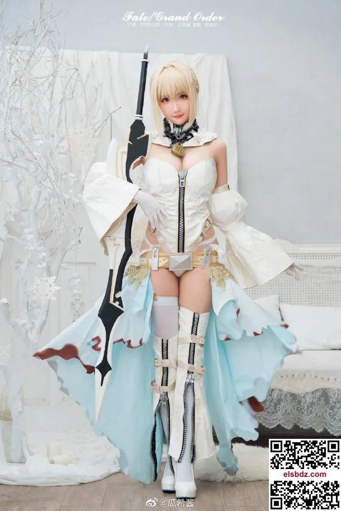 Fate/GrandOrder 尼禄·克劳狄乌斯花嫁cos CN瓜希酱 (9P)插图