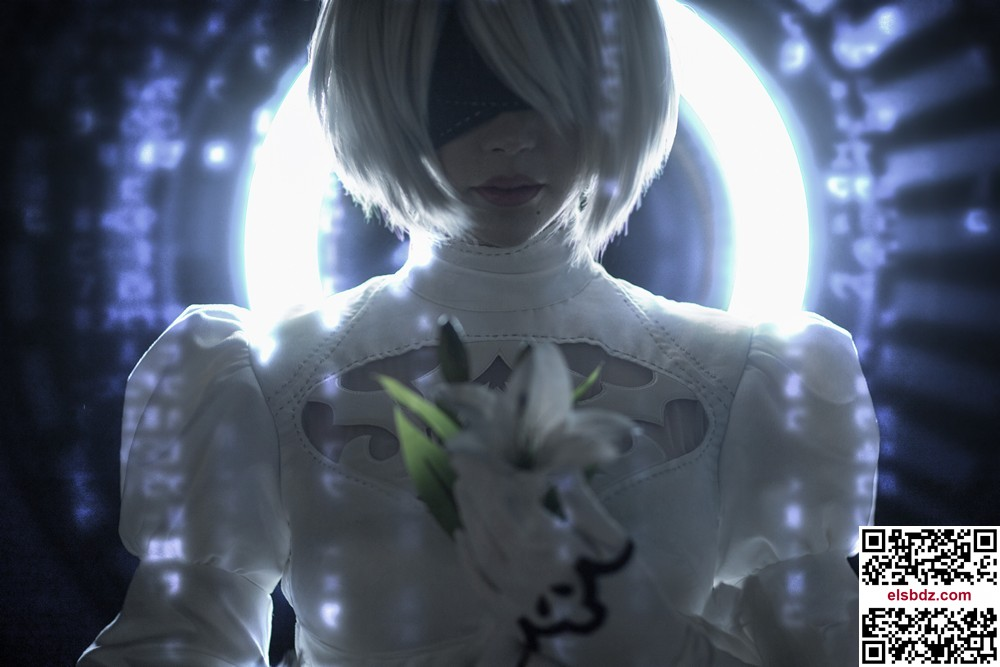 Sayathefox 2B in the white dress插图(5)
