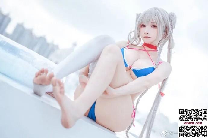 碧蓝航线4周年 可畏泳装cos cn一千只猫薄禾 (16P)插图(6)
