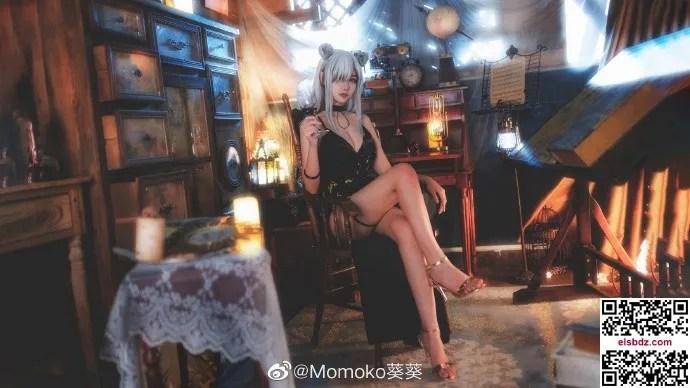 明日方舟黑cos 黑色高贵礼服 Momoko葵葵 (10P)插图(1)