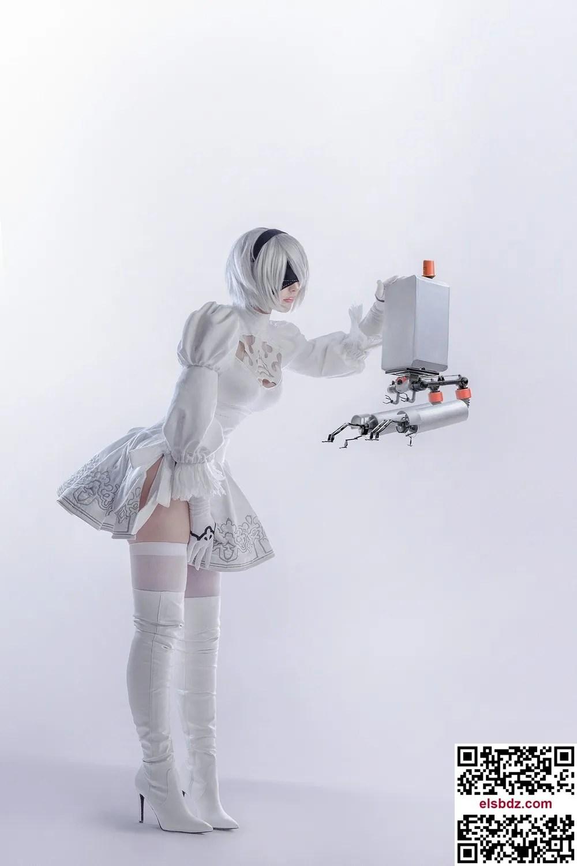Sayathefox 2B in the white dress插图