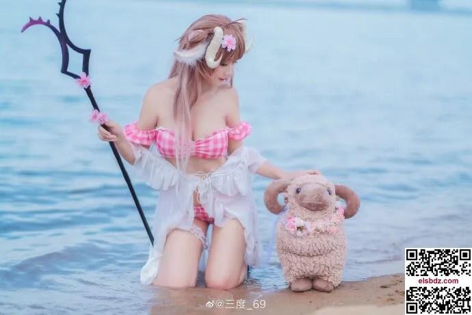 明日方舟艾雅法拉泳装cos 小羊夏日皮肤 cn三度 (12P)插图(6)