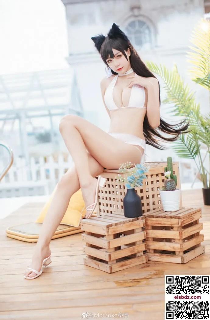 碧蓝航线4周年 爱宕cos盛夏进行曲 Momoko葵葵 (9P)插图
