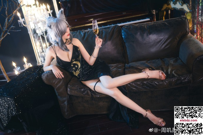 明日方舟黑cos 冷雅黑礼服 cn周叽是可爱兔兔 (10P)插图(8)