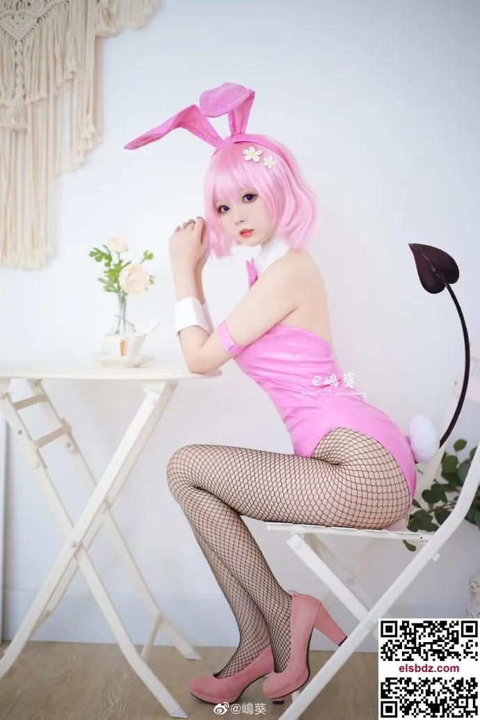 【To LOVE】梦梦·贝莉雅·戴比路克 嶋葵的粉色梦梦兔女郎cos (10P)插图(3)