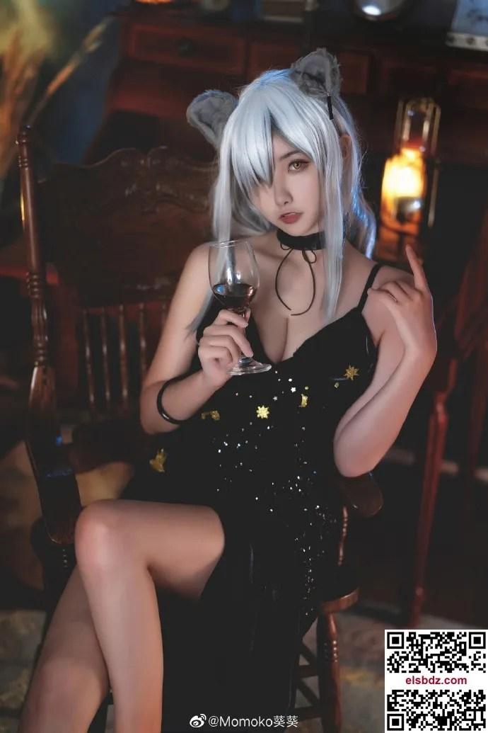明日方舟黑cos 黑色高贵礼服 Momoko葵葵 (10P)插图(5)