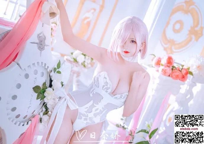 甜美粉白迷人玛修花嫁cos 七夕快乐 cn日奈娇 (15P)插图(3)