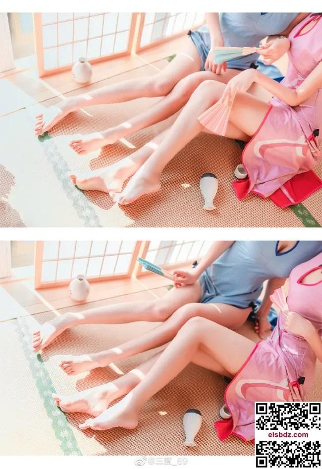 三度和眠渡的旗袍装拉姆和雷姆cos,可爱修身旗袍大长腿 (12P)插图(5)