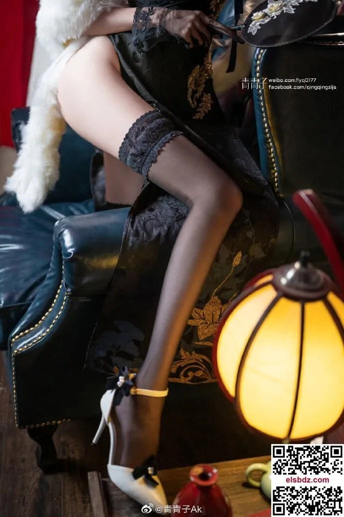 碧蓝航线路易九世旗袍cos 瑰丽的执勤人 cn青青子Ak (9P)插图(7)