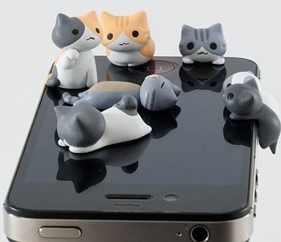 超可愛三款手機殼+萌翻的貓咪耳機塞