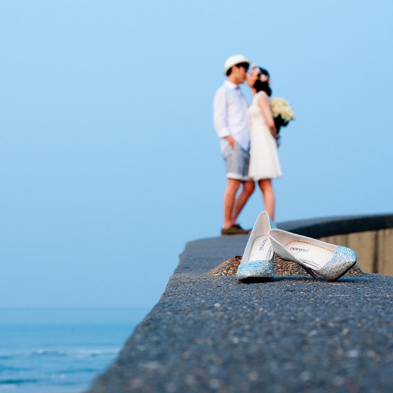 [婚禮] 我的兩雙婚鞋及馬卡龍捧花,還有正妹招待及伴娘