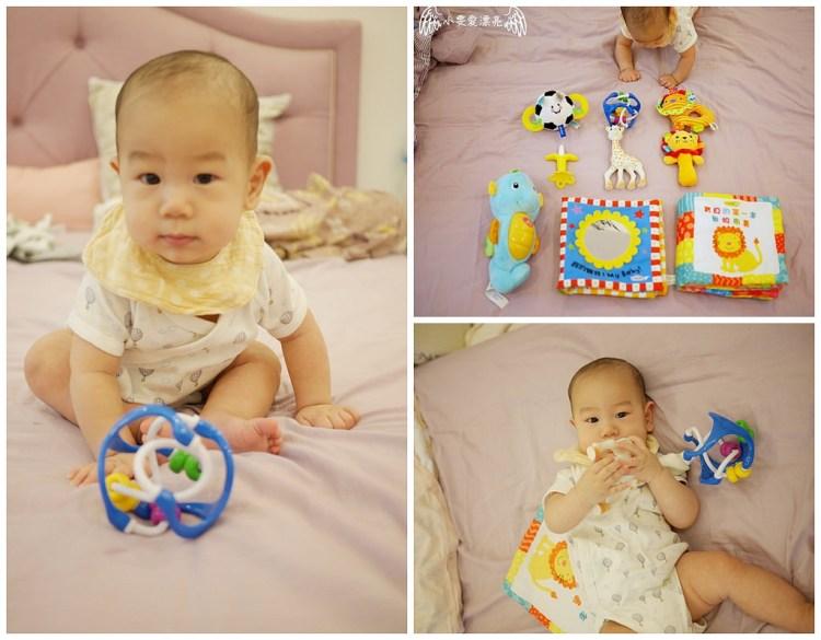 [親子] 丸子0~6M的玩具和固齒器!