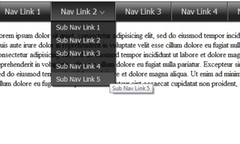 How to Create a Drop Down Nav Menu with HTML5, CSS3, and jQuery
