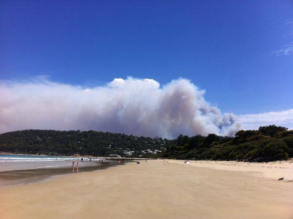 Viisi kaupunkia on evakuoitu maastopalojen vuoksi Victorian osavaltiossa Australiassa.