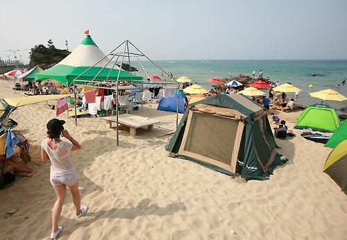 동해안의 작은후진해수욕장(성연재 기자)