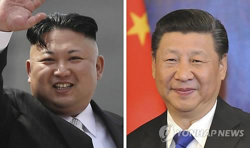 김정은 북한 노동당 위원장과 시진핑 중국 국가주석