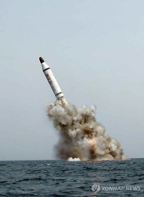 N. Korea test-fires missile from underwater