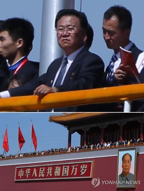 N. Korea's Choe Ryong-hae at China's military parade