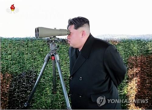 N.K. leader observes new weapon