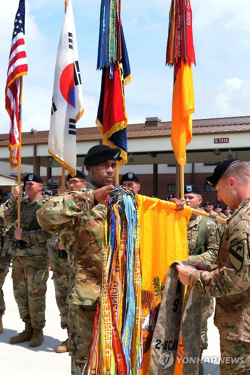 Hoisting of colors at new military base