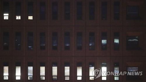 가려진 중앙지검 10층