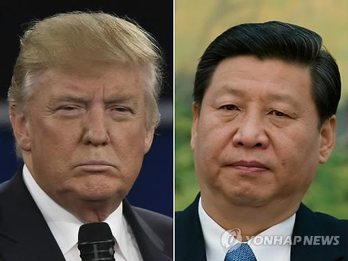 트럼프(왼쪽)와 시진핑