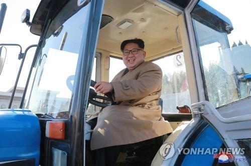 Kim Jong-un in tractor