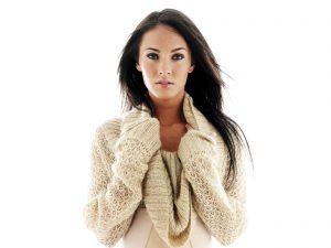 Actress Megan Fox in White