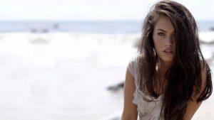 Hot Hair of Megan Fox at Beach