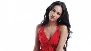 Megan Fox in Red Dress HD Wallpapers