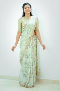 Rashmika Mandanna Beautiful Pics In Saree2
