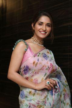 Ruhani Sharma Hot In Saree6