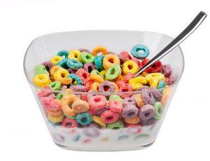 Sweetened breakfast cereals: