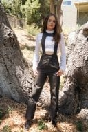 Joey King Photoshoot In White Top Black Pants 1