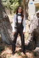 Joey King Photoshoot In White Top Black Pants 3