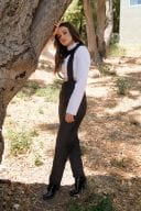 Joey King Photoshoot In White Top Black Pants 4