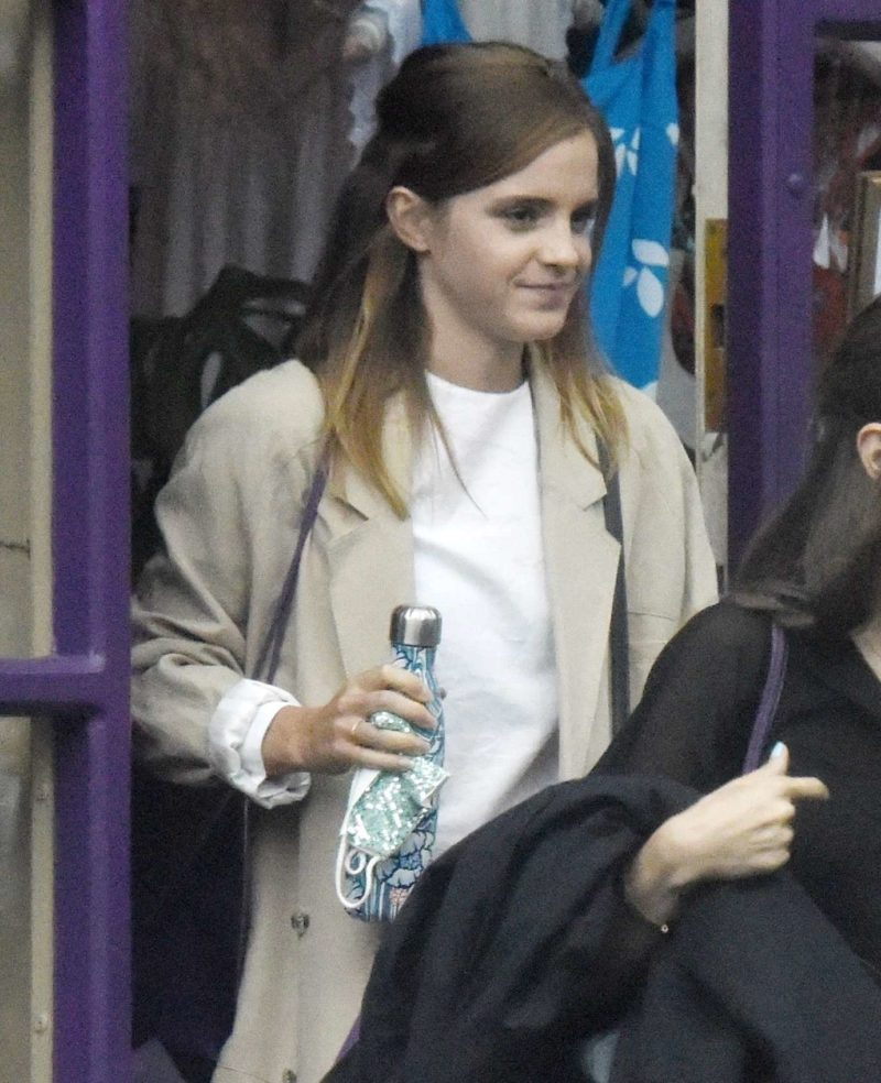 Emma Watson Spotted Shoping At Tallulah Lingerie In North London