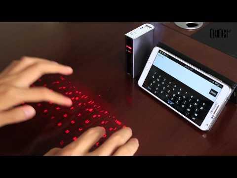 iKonnect 4 In 1 Wireless Bluetooth Laser Virtual Keyboard