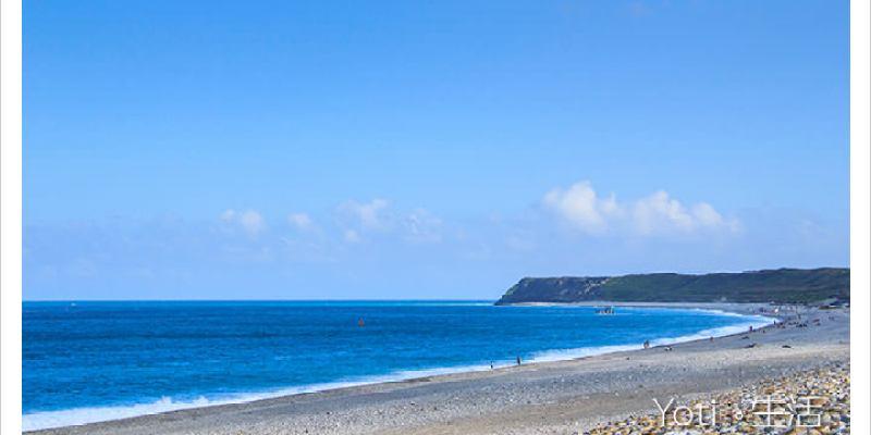 [花蓮新城] 七星潭風景區   相鄰太平洋的月牙灣, 藍天白雲與蔚藍海景的協奏曲