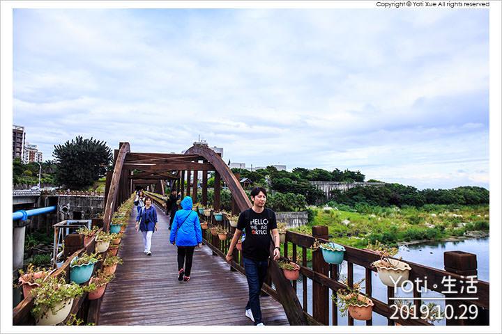 [花蓮市區] 曙光橋   迎接太平洋的第一道曙光, 漫步於木橋自行車道上